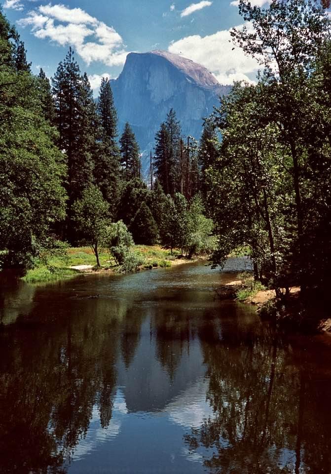 Half Dome at Sentinel Bridge Yosemite National Park