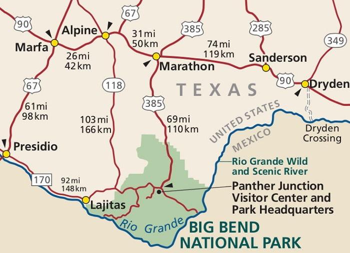 Big Bend National Park Map Guide national park