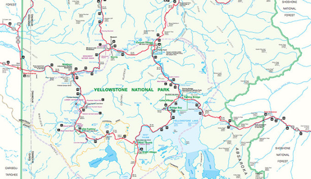 Yellowstone National Park Map Guide