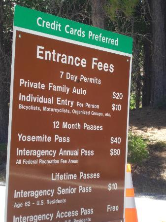 Yosemite National Park Fees