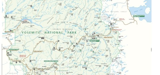 Yosemite National Park Map Guide